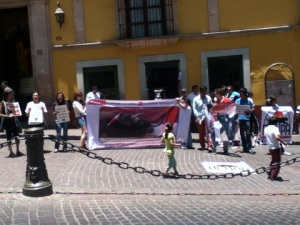 Protesting the cruelty of bullfighting