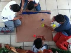 Boys' mural