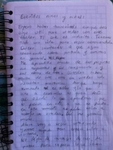 Andrea's farewell letter